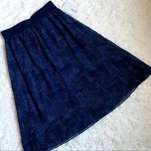 Shades of Blue LuLaRoe Lola Skirt